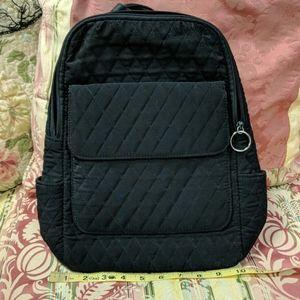 Vera Bradley Solid Black Quilted Backpack Bag